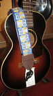 Souldier Owl Guitar Strap Blue w/ Brown Ends Durable Quality Guitar Strap Wilco
