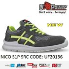 UPOWER SCARPA LAVORO ANTINFORTUNISTICA ULTRA TRASPIRANTE S1P SRC NICO U-POWER -