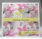 Sparkling Butterflies Wedding Invitations personalised, envelopes, day/evening