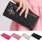 New Women Fashion PU Leather Wallet Case Lady Long Purse Handbag Card Holder
