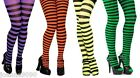ADULT STRIPED STRIPEY TIGHTS 4 COLOURS FOR A WITCH HALLOWEEN FANCY DRESS COSTUME