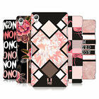 HEAD CASE DESIGNS BLACK & PINK HARD BACK CASE FOR SONY PHONES 1