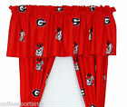 Georgia Bulldogs Curtains Drapes & Valance Set with Tie Backs