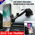 Universal Windshield Mount Car Holder Cradle For GPS Mobile Smart Phone iPhone X