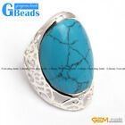 21x26mm Oval Stone Tibetan Silver Ring 23x37mm Fashion Jewelry Free Shipping