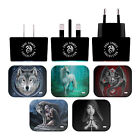 OFFICIAL ANNE STOKES VARIOUS ART BLACK UK CHARGER & USB CABLE FOR APPLE iPAD