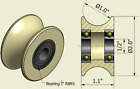 2 Inch Nylon Pulley, Various Bearing Sizes To Choose, 1 Inch Round Groove