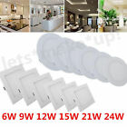 Dimmable Recessed LED Ceiling Panel Light 6W 9W 12W 15W 21W 24W Downlight Lamps