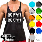 Gym Singlets- NO PAIN NO GAIN - Men's Tank Top Bodybuilding & Fitness-Stringer