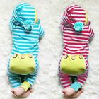 Newborn Infant Baby Boys Girls Hooded Romper Bodysuit Jumpsuit Outfits Clothes