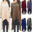 HXAutumn Maxi Dress Women Dress Long Sleeve Knitted Sweater Irregular Hem Dresse