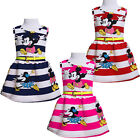 Lovely Cartoon Mickey Righe Bambine Bambini Estate Abito Da Sera