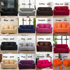 Pure 8 Colors Poly / Winter Plush 1 2 3 4 Seater Stretch Sofa Couch Slip Covers