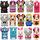 3D Cartoon Super Hero Soft Silicone Back Case Cover For Sony &  Nokia & ZTE ASUS