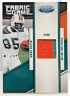 Mark Duper 2011 Certified Fabric of the Game PRIME 2 color GU Patch /50 DOLPHINS