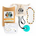 Amber Baby Necklace - Powell's Owls Baltic Toddler Multicolor Gift Set - US Ship