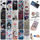 For HTC Desire 825 3D Emboss Cartoon Finger Ring Stand Case Cover Luxury Stars