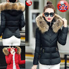 Women Hooded Quilted Jacket Fur Winter Long Padded Coat Fashion Lady Slim Parka