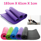 10/15mm YOGA MAT EXERCISE FITNESS AEROBIC GYM PILATES CAMPING NON SLIP THICK New