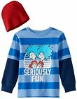 "NWT Dr. Seuss Thing 1 & Thing 2 - ""Seriously Fun"" Tee & Beanie: Boys 3T/4T"