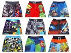 Boys Swimming Swim Shorts Trunks 1pc Mario,Spiderman,Star Wars,Cars,Spongebob