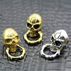【C06】Solid Brass Slide-Skull-O-Ring Wallet Chain Connector Jointpart Concho