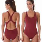 Women's Elite Pro Solid Maxback One Piece Athletic Training Swimsuit