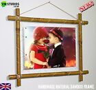 YOUR PERSONALISED PHOTO PICTURE PRINT ON TO CANVAS IN BAMBOO Frame Present Gift