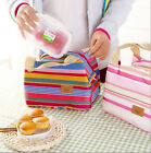 HOT Sale Insulated Cold Canvas Stripe Picnic all Carry Thermal Portable Bag HQ