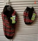 Wag-a-tude Red Brown Plaid Mock Scarf Dog Sweater Coat Sizes XXS & L ~ NWT