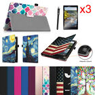 For Verizon Ellipsis 8 HD 2016 (QTASUN1G/QTASUN1B) Folio Case Stand Cover Bundle