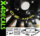 Decal stickers to fit OZ Racing Lotus wheel Centre Decal WRC various colours x4