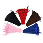 Trendy 2Pcs Rope Locking Single Velvet Pen Pouch Pen Bag Pencil Holder Pen Case