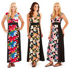 Pistachio Womens Tropical Or Flower Maxi Ladies Long Summer Colour Block Dress