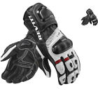 Rev It Spitfire Leather Motorcycle Gloves Race Bike Vented Armoured GhostBikes
