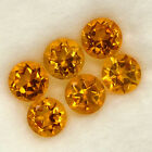 DISTINGUISHED SET! 2.90ct.Natural Golden Honey Yellow Citrine Brazil Round 5mm.