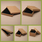 BROWN JEWELLERY GIFT BOX RING NECKLACE BRACELET EARRINGS WATCH SMALL PRESENT NEW