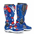 SIDI CROSSFIRE 3 SRS WHITE BLUE RED MX MOTOCROSS DIRT BIKE MOTORCYCLE BOOTS