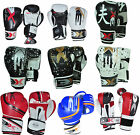 Leather Boxing Gloves KickBoxing Sparring Punch Bag Mitts Thai Training 3XSports