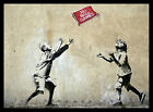 FRAMED Bansky No Ball Game Print 18x12 REAL WOODEN FRAME