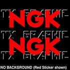 NGK  DECAL  SPARK PLUG  VINYL STICKERS  RACE CAR,   1 SET OF