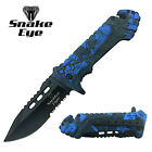 """Snake Eye Tactical Outdoor Rescue Spring Assist Knife 4.5"""" Closed - Pick Style"""