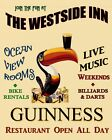 Toucan Guinness Beer Ireland Live Music Billiards Bar Vint Poster Repro FREE S/H $98.0 USD