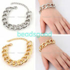 Fashion Metal Concise Link Chain Charms Bracelet Bangle Cuff Women Jewelry Gift