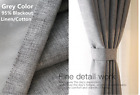 New Curtain Stage Blackout  Custom Sizes Available Made in Canadar Grey#101
