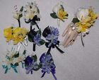 Corsage Boutonniere 2 PCS Set Ginger (Like Plumeria) Many Colors to Choose From