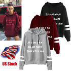 Just Kiss Me Women Long Sleeve Hoodie Sweatshirt Hooded Coat Pullover US Stock