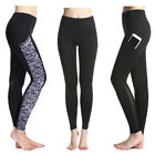 Women Mesh Yoga Gym Running Sports Pocket Pants Stretch Workout Fitness Leggings