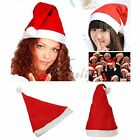 1/10/50/100 x Adult Santa Hat Red Xmas Cap for Christmas Party Decorations