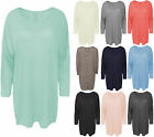 Womens Trendy Button Back Top Ladies Stretchable Oversized Batwing T-Shirt
